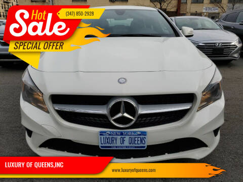2016 Mercedes-Benz CLA for sale at LUXURY OF QUEENS,INC in Long Island City NY
