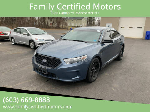 2014 Ford Taurus for sale at Family Certified Motors in Manchester NH