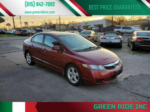 2009 Honda Civic for sale at Green Ride Inc in Nashville TN