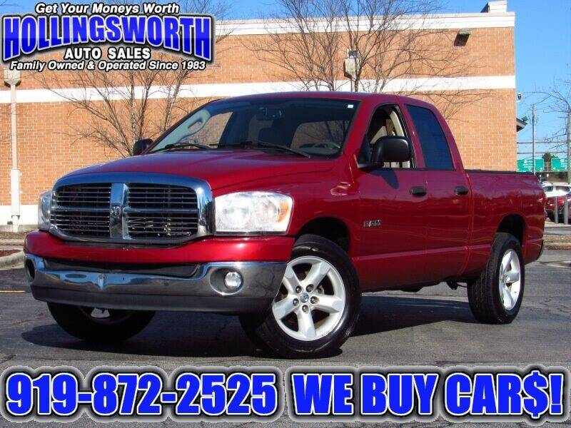 2008 Dodge Ram Pickup 1500 for sale at Hollingsworth Auto Sales in Raleigh NC