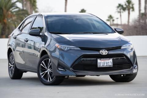 2017 Toyota Corolla for sale at Euro Auto Sales in Santa Clara CA