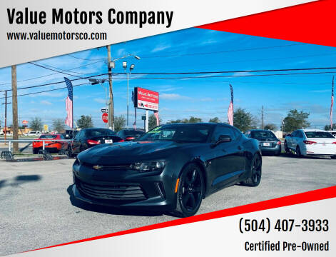 2017 Chevrolet Camaro for sale at Value Motors Company in Marrero LA