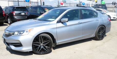 2017 Honda Accord for sale at Luxor Motors Inc in Pacoima CA