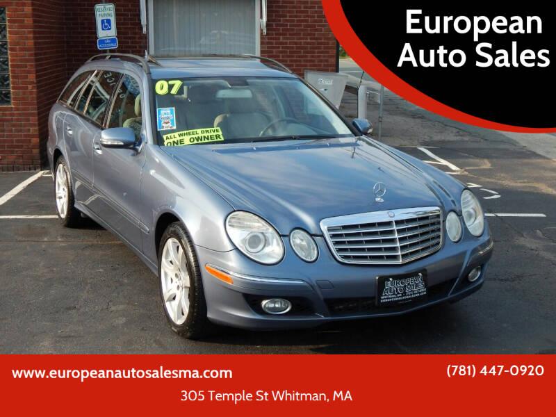 2007 Mercedes-Benz E-Class for sale at European Auto Sales in Whitman MA