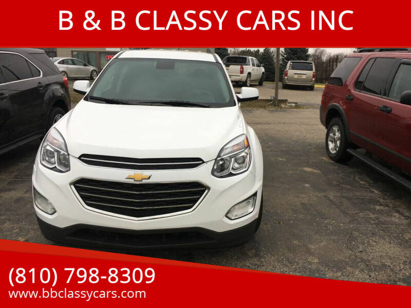 2017 Chevrolet Equinox for sale at B & B CLASSY CARS INC in Almont MI