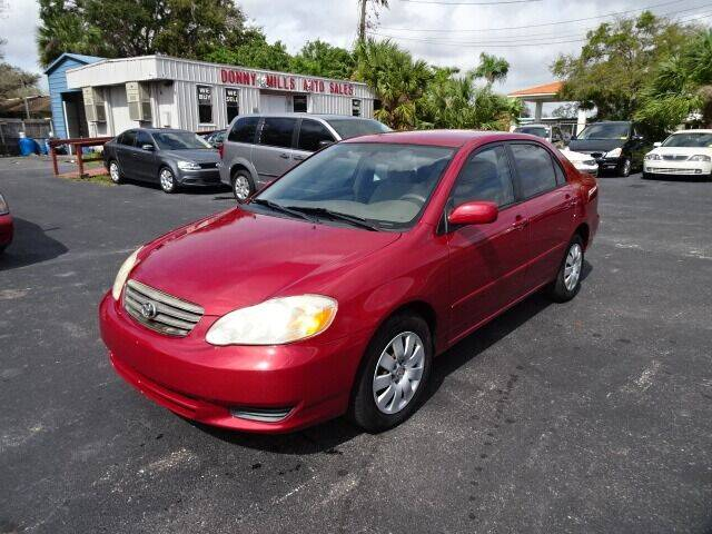 2004 Toyota Corolla for sale at DONNY MILLS AUTO SALES in Largo FL
