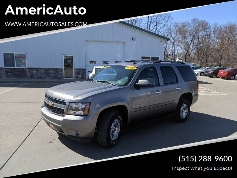 2007 Chevrolet Tahoe for sale at AmericAuto in Des Moines IA
