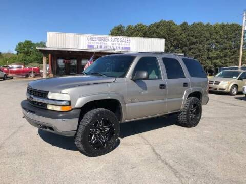 2002 Chevrolet Tahoe for sale at Greenbrier Auto Sales in Greenbrier AR