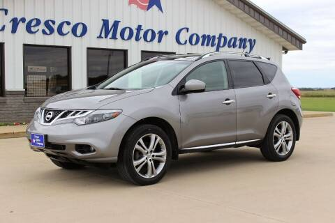 2012 Nissan Murano for sale at Cresco Motor Company in Cresco IA