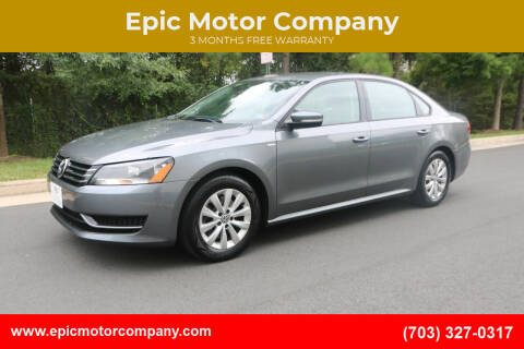 2015 Volkswagen Passat for sale at Epic Motor Company in Chantilly VA