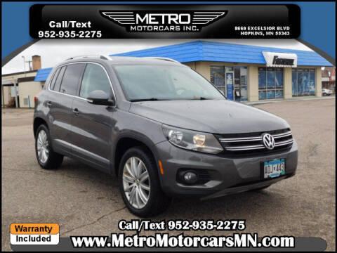 2015 Volkswagen Tiguan for sale at Metro Motorcars Inc in Hopkins MN