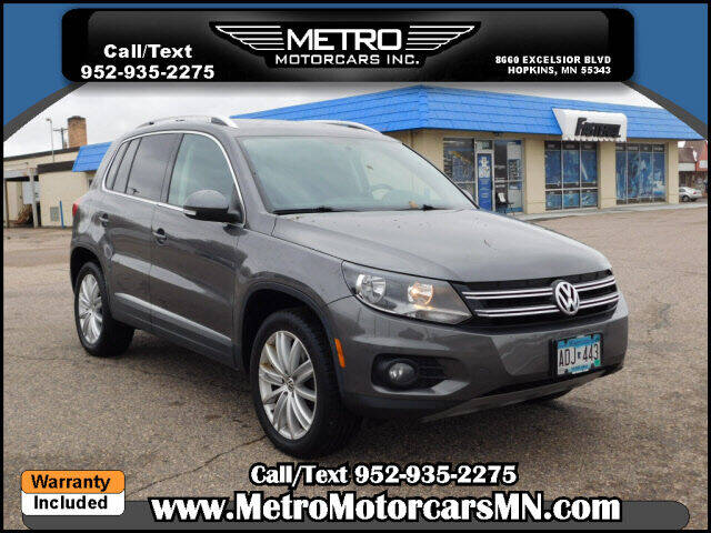 2015 Volkswagen Tiguan for sale at Metro Motorcars Inc in Hopkins MN
