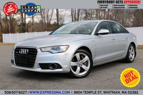 2012 Audi A6 for sale at Auto Sales Express in Whitman MA