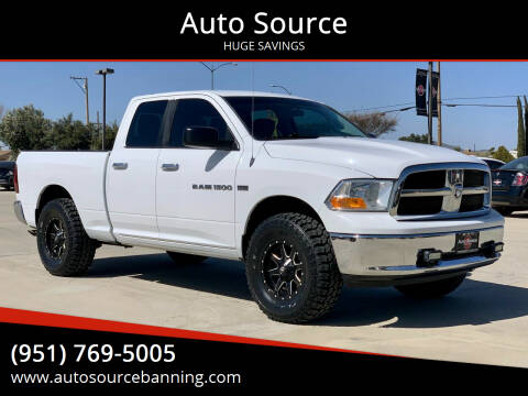 2012 RAM Ram Pickup 1500 for sale at Auto Source in Banning CA