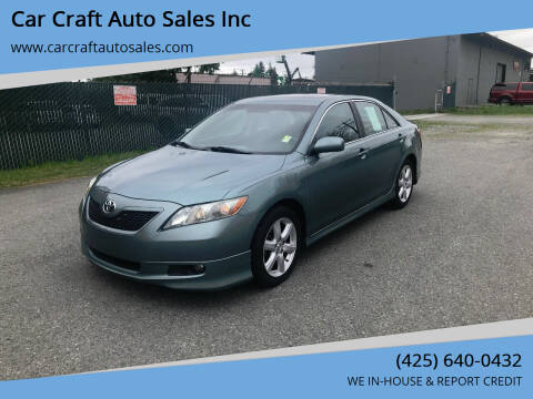2007 Toyota Camry for sale at Car Craft Auto Sales Inc in Lynnwood WA