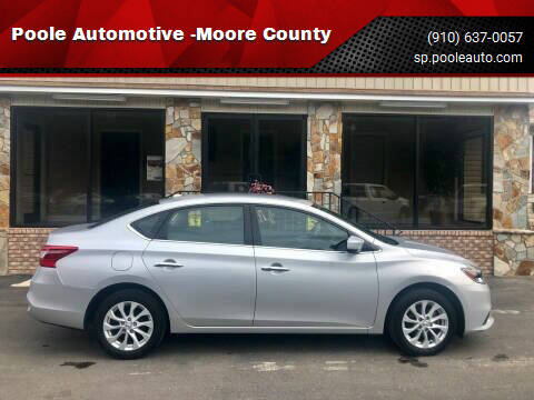 2019 Nissan Sentra for sale at Poole Automotive -Moore County in Aberdeen NC