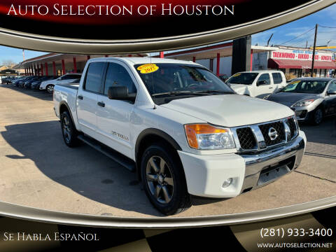 2015 Nissan Titan for sale at Auto Selection of Houston in Houston TX