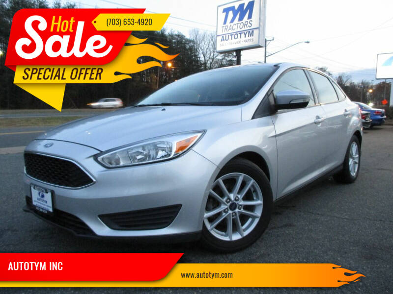 2015 Ford Focus for sale at AUTOTYM INC in Fredericksburg VA