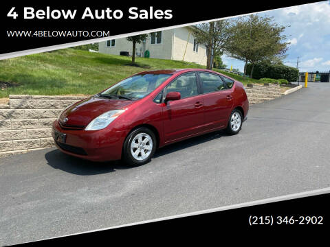2004 Toyota Prius for sale at 4 Below Auto Sales in Willow Grove PA