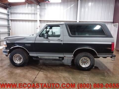 1992 Ford Bronco for sale at East Coast Auto Source Inc. in Bedford VA