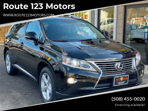 2013 Lexus RX 350 for sale at Route 123 Motors in Norton MA
