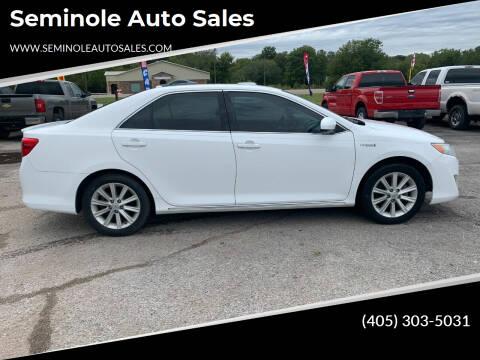2013 Toyota Camry Hybrid for sale at Seminole Auto Sales in Seminole OK