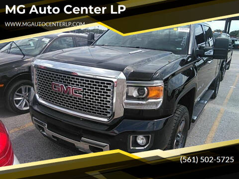 2015 GMC Sierra 2500HD for sale at MG Auto Center LP in Lake Park FL