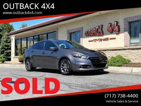 2016 Dodge Dart for sale at OUTBACK 4X4 in Ephrata PA