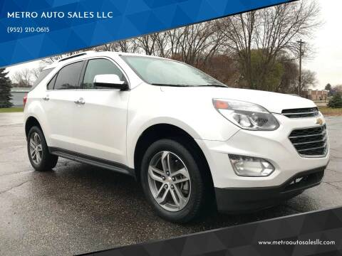 2016 Chevrolet Equinox for sale at METRO AUTO SALES LLC in Blaine MN