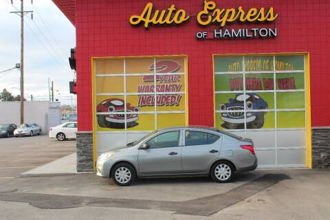 2014 Nissan Versa for sale at AUTO EXPRESS OF HAMILTON LLC in Hamilton OH