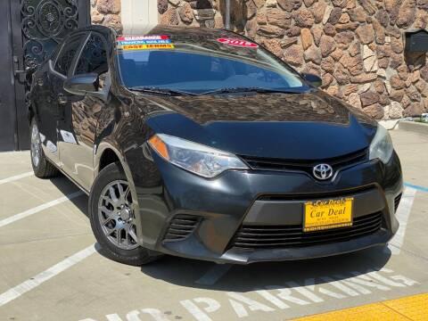 2015 Toyota Corolla for sale at Car Deal Auto Sales in Sacramento CA