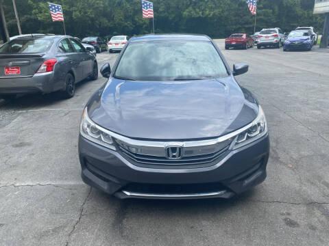 2017 Honda Accord for sale at J Franklin Auto Sales in Macon GA