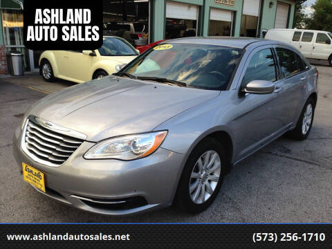 2013 Chrysler 200 for sale at ASHLAND AUTO SALES in Columbia MO