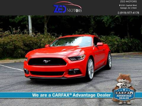 2016 Ford Mustang for sale at Zed Motors in Raleigh NC