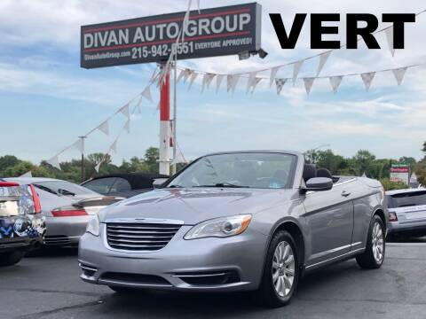 2013 Chrysler 200 Convertible for sale at Divan Auto Group in Feasterville Trevose PA