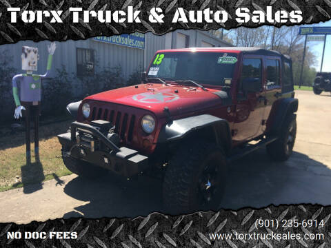 2013 Jeep Wrangler Unlimited for sale at Torx Truck & Auto Sales in Eads TN