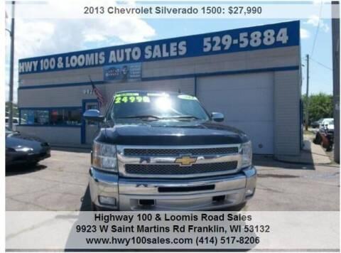 2013 Chevrolet Silverado 1500 for sale at Highway 100 & Loomis Road Sales in Franklin WI