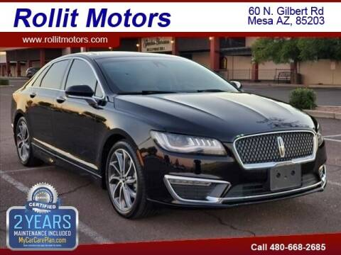 2019 Lincoln MKZ Hybrid for sale at Rollit Motors in Mesa AZ