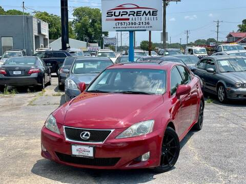 2007 Lexus IS 250 for sale at Supreme Auto Sales in Chesapeake VA
