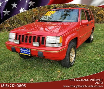 1995 Jeep Grand Cherokee for sale at Chicagoland Internet Auto - 410 N Vine St New Lenox IL, 60451 in New Lenox IL