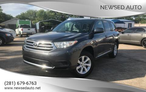 2012 Toyota Highlander for sale at Newsed Auto in Houston TX