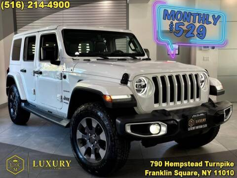 2018 Jeep Wrangler Unlimited for sale at LUXURY MOTOR CLUB in Franklin Square NY