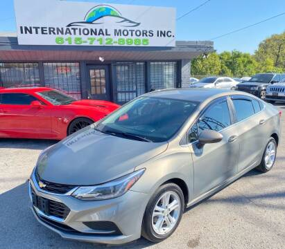 2017 Chevrolet Cruze for sale at International Motors Inc. in Nashville TN