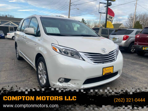 2017 Toyota Sienna for sale at COMPTON MOTORS LLC in Sturtevant WI