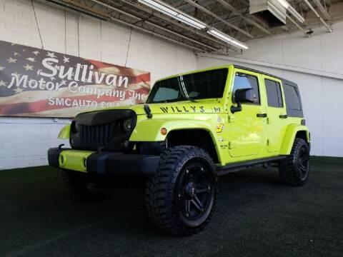 2017 Jeep Wrangler Unlimited for sale at SULLIVAN MOTOR COMPANY INC. in Mesa AZ