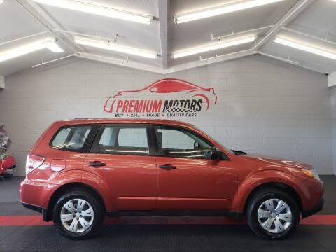 2010 Subaru Forester for sale at Premium Motors in Villa Park IL