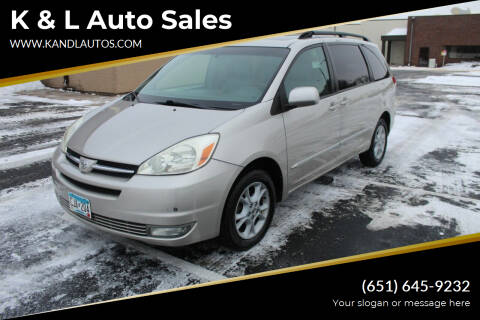 2004 Toyota Sienna for sale at K & L Auto Sales in Saint Paul MN