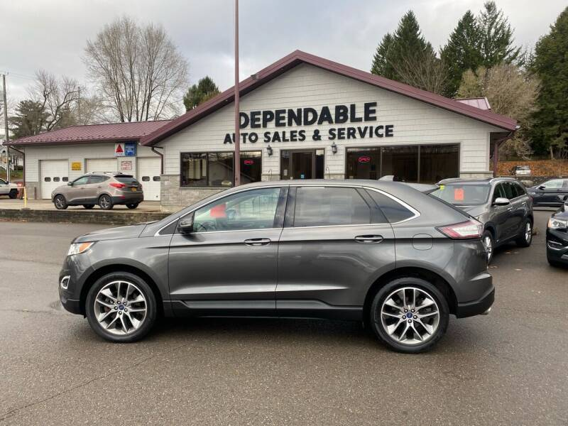 2016 Ford Edge for sale at Dependable Auto Sales and Service in Binghamton NY