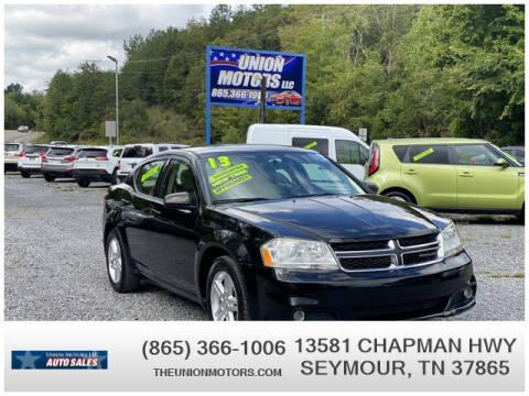 2013 Dodge Avenger for sale at Union Motors in Seymour TN
