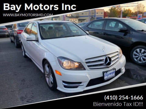 2012 Mercedes-Benz C-Class for sale at Bay Motors Inc in Baltimore MD